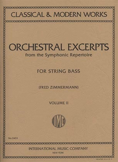 International Music Company Zimmerman, Fred: Orchestral Excerpts Vol.2 (bass)