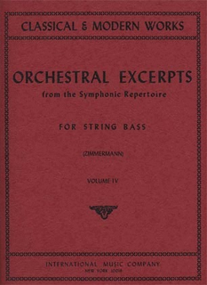 International Music Company Zimmerman: Orchestral Excerpts Vol.4 (bass)