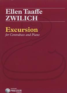 Carl Fischer Zwilich: Excursion (bass & piano) Presser
