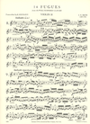 International Music Company Bach, J.S.: 14 Fugues from The Well-Tempered Clavier, Volume II. For string quartet. Parts.