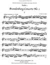 LudwigMasters Bach, J.S. (Latham): Brandenburg Concerto No. 1 (string quartet, score & parts with optional violin 3 part)