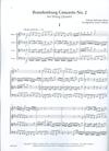 LudwigMasters Bach, J.S. (Latham): Brandenburg Concerto No. 2 (string quartet score & parts)