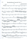 LudwigMasters Bach, J.S. (Latham): Brandenburg Concerto No. 4 arranged for string quartet (score & parts)