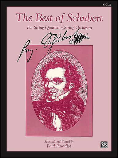 Alfred Music Paradise, P. (ed.): Best of Schubert for String Quartet or String Orchestra (viola part)