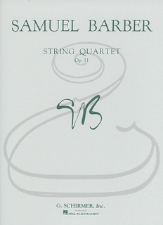 Schirmer Barber: String Quartet, Op.11 - 'Adagio for Strings' (string quaret) Schirmer