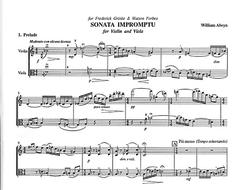 Alwyn, William: Sonata Impromptu for Violin & Viola
