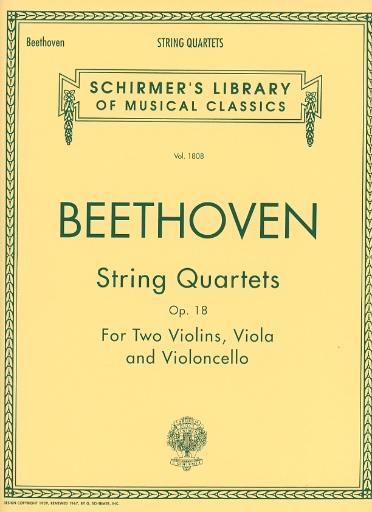 HAL LEONARD Beethoven, L.van: String Quartets Op.18 Nos. 1-6