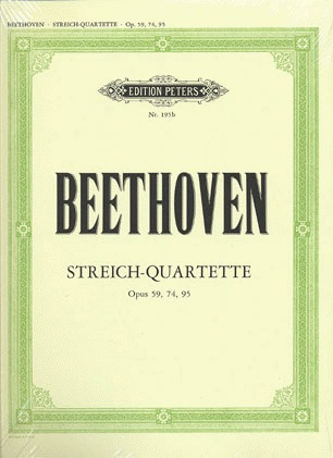C.F. Peters Beethoven, L.van: String Quartets Vol.2; Op.59 No.1-3, Op.74, Op.95