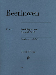 HAL LEONARD Beethoven, L. van: String Quartets Op.59, 74, 95, urtext (set of parts)