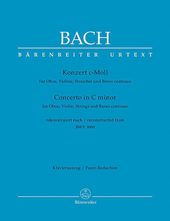 Barenreiter Bach, J.S.: Concerto In C Minor For Oboe And Violin, BWV 1060 (rekonstruiert nach BWV 1060) Barenreiter