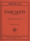 International Music Company Bach, J.S. (David): Four Duets (S.802-5) for Violin & Viola