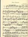 PETERS Bach, J.S.: 4 Duets for Violin & Cello BWV 802-805 PETERS