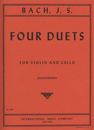 International Music Company Bach, J.S.: Four Duets for (violin, cello) IMC