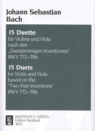 Bach (David): 15 Duets based on the Two Part Inventions, BWV 772-786 (violin & viola)