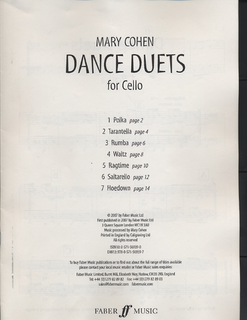 Faber Music Cohen, Mary: Dance Duets (2 cellos)