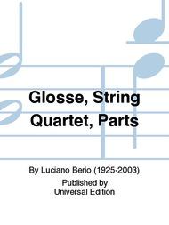 Carl Fischer Berio, L.: Glosse per quartetto d'archi (string quartet)
