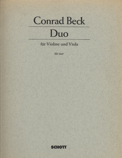 Beck, Conrad: Duo for Violin & Viola