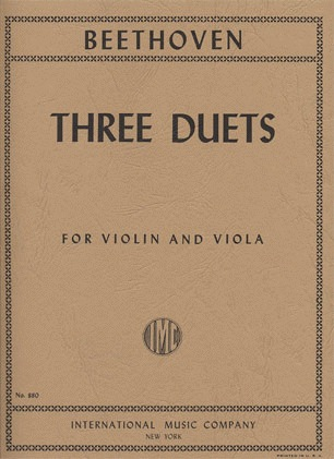 International Music Company Beethoven, L.van: Three Duets for Violin & Viola