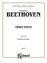 Alfred Music Beethoven, L.van: Three Duets for Violin & Viola