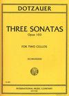 International Music Company Dotzauer, Friedrich (Alwin Schroeder): Three Sonatas op.103 (2 cellos) IMC