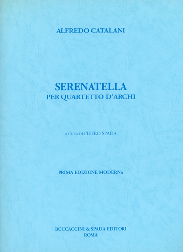Carl Fischer Catalani, Alfredo: Serenatella (string quartet)