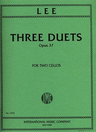 International Music Company Lee: Three Duets Op.37 (2 Cellos)