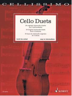 HAL LEONARD Mohrs: Cello Duets 34 Original Cello Duets from 5 Centuries (score, 2 cellos)