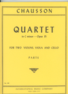 International Music Company Chausson, Ernest: String quartet in c minor, Op.35-unfinished (parts)