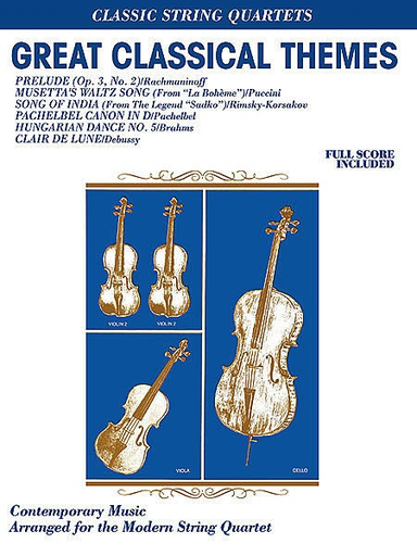 Alfred Music Great Classical Themes (string quartet)