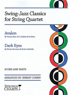 HAL LEONARD Cohen, J.: Swing-Jazz Classics for String Quartet-Avalon and Dark Eyes (score and parts)
