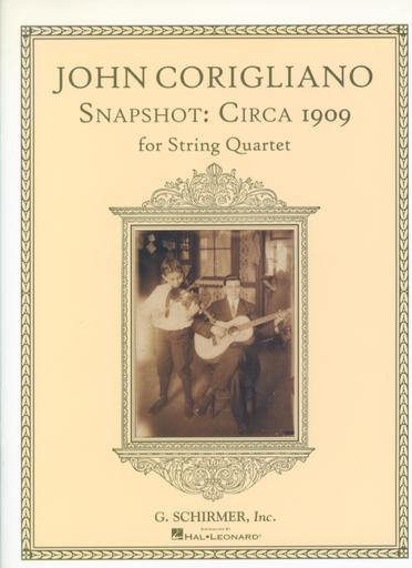 HAL LEONARD Corigliano, John: Snapshot circa 1909 (string quartet) score and parts