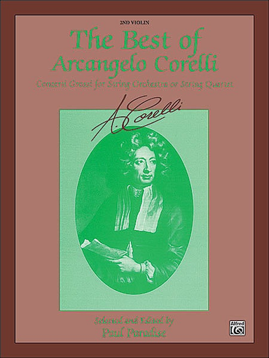 Alfred Music Paradise, Paul: The Best of Arcangelo Corelli-Concerto Grossi (Violin 2)
