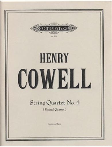 Cowell, Henry: Quartet No. 4 United Quartet (score and parts)