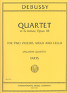 International Music Company Debussy, Claude: Quartet Op.10 in G minor, Paganini string quartet