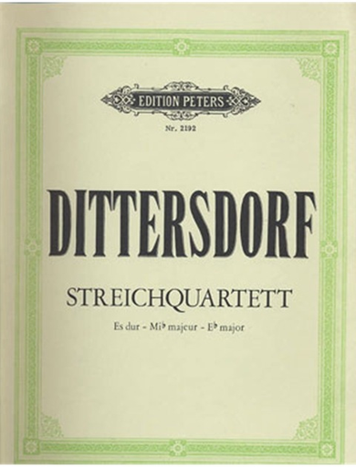 Dittersdorf, C.D. von: String Quartet in Eb Major