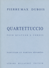 Carl Fischer Dubois, Pierre Max: Quartettuccio (string quartet) score and parts