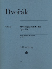 HAL LEONARD Dvorak, A. (Henle): String Quartet in G Major. (violin, violin, viola, cello) Urtext