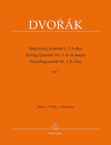Barenreiter Dvorak, Antonin: String Quartet No.1 in A Major, Op 2, Barenreiter