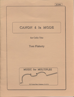 Flaherty: Canona la Mode for Cello Trio (score & parts)