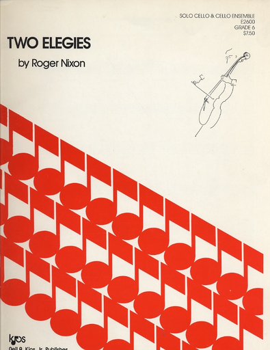 Nixon, Roger: Two Elegies for Solo Cello and 2 accompanying cellos, score & parts