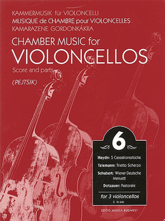 HAL LEONARD Pejtsik, Arpad: Chamber Music for Violoncellos Vol.6 (3 cellos), Edito Musica Budapest