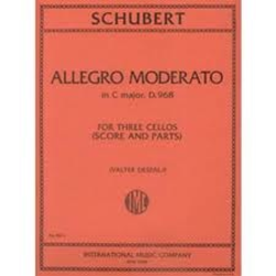 International Music Company Schubert, Franz: Allegro Moderato in C major, D.968 (3 cellos, score & parts)