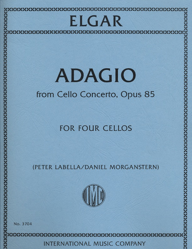 International Music Company Elgar, Edward: Adagio from Cello Concerto, Op. 85 (4 cellos) score & parts