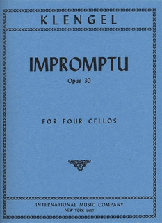 International Music Company Klengel, Julius: Impromptu Op.30 (4 cellos)