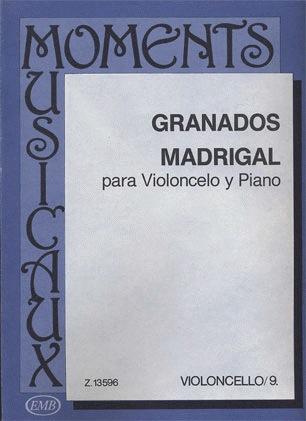 HAL LEONARD Granados, Enrique (Pejtsik): Madrigal (cello & piano), Edito Musica Budapest