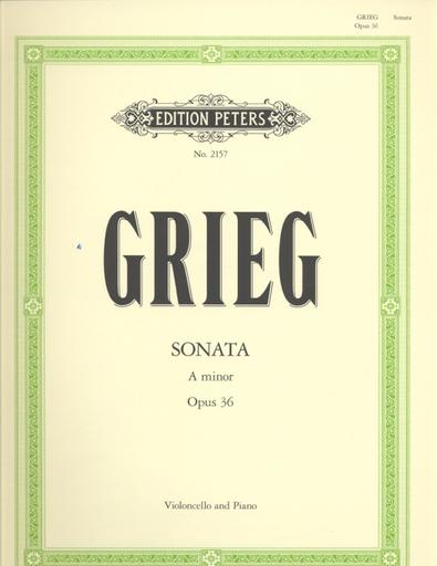 Grieg, Edvard: Sonata Op.36 in A minor (cello & piano)