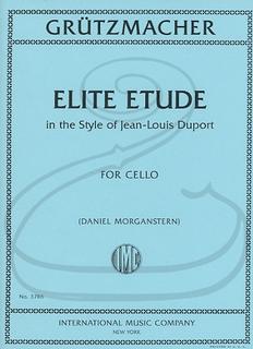 International Music Company Gruetzmacher (Morganstern): Elite Etude in the Style of Jean-Louis Duport (cello) International