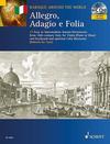 HAL LEONARD De Caro, Roberto: Allegro, Adagio e Follia (Violin, Piano, Cello continuo, CD)