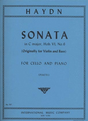 International Music Company Haydn, Cello F.J.: Sonata in C Major (cello & piano)