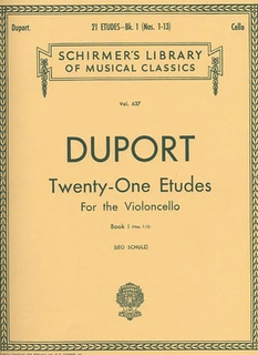 HAL LEONARD Duport: 21 Etudes Bk.1 No.1-13 (cello) SCHIRMER